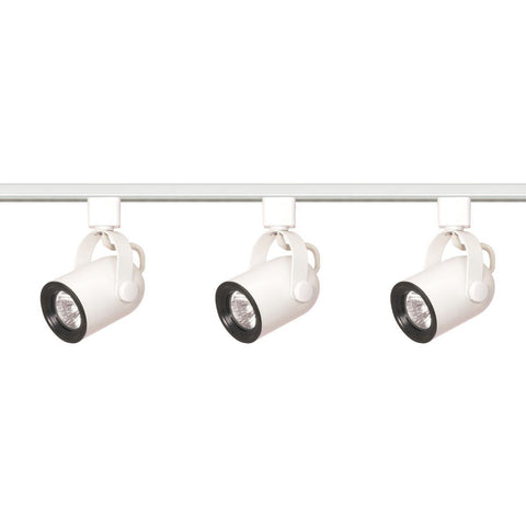 Nuvo Lighting 3 Light MR16 Round Back Track Kit Line Voltage TK348