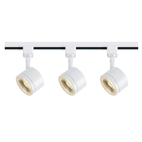 Nuvo Lighting Track Lighting Kit 12 Watt LED 3000K 36 Degree Round Shape White Finish TK403