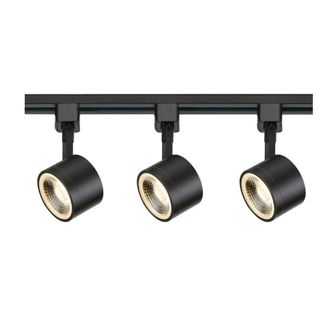 Nuvo Lighting Track Lighting Kit 12 Watt LED 3000K 36 Degree Round Shape Black Finish TK404