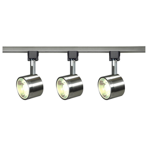 Nuvo Lighting Track Lighting Kit 12 Watt LED 3000K 36 Degree Round Shape Brushed Nickel Finish TK407