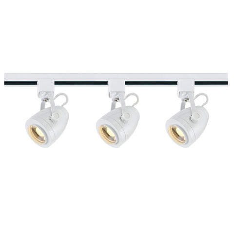 Nuvo Lighting Track Lighting Kit 12 Watt LED 3000K 36 Degree Pinch Back Shape White Finish TK413