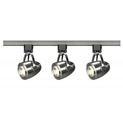 Nuvo Lighting Track Lighting Kit 12 Watt LED 3000K 36 Degree Pinch Back Brushed Nickel Finish TK417