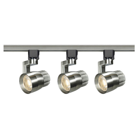 Nuvo Lighting Track Lighting Kit 12 Watt LED 3000K 36 Degree Round Shape with Angle Arm Brushed Nickel Finish TK427