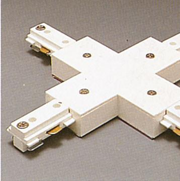 One-Circuit X Connector - White Tracks PLC Lighting