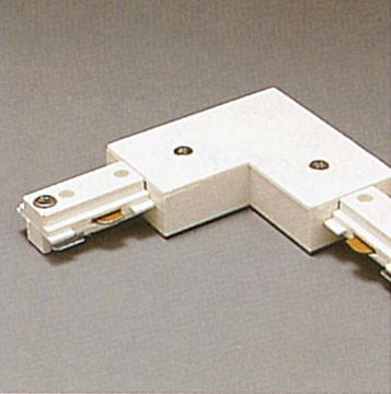 Two-Circuit L Connector - Black Tracks PLC Lighting