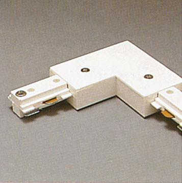 Two-Circuit L Connector - White Tracks PLC Lighting