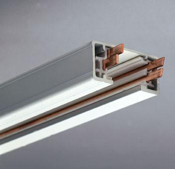 4ft Two-Circuit Track Section - White Tracks PLC Lighting