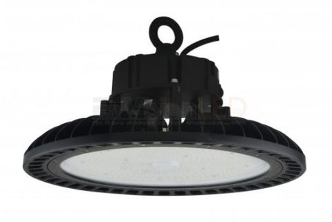 UFO Round High Bay Fixture with Emergency Backup - Black