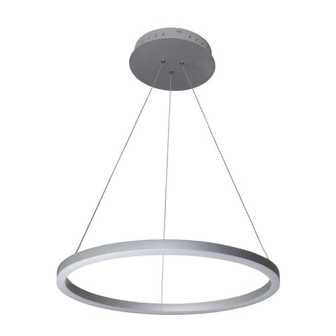 "Tania 24"" LED Ring Suspension Pendant Chandelier - Silver Ceiling Vonn"