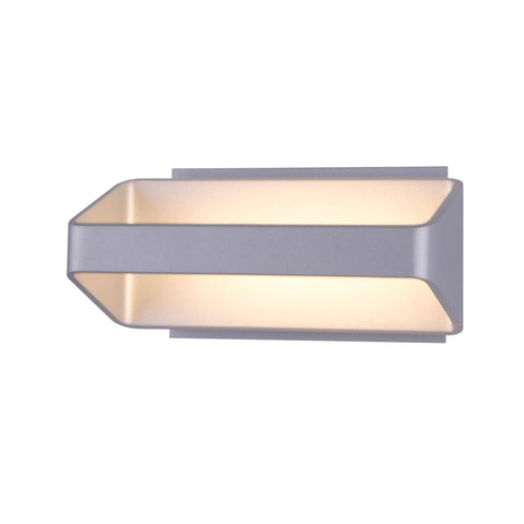 "Atlas 10""w LED Wall Sconce - Silver"