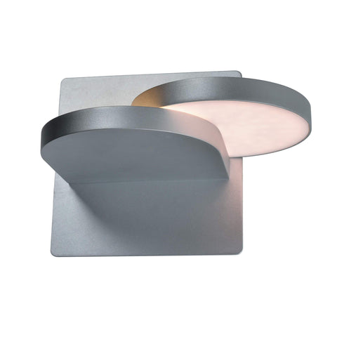 "Eclipse 7"" Rotative LED Wall Sconce - Silver"