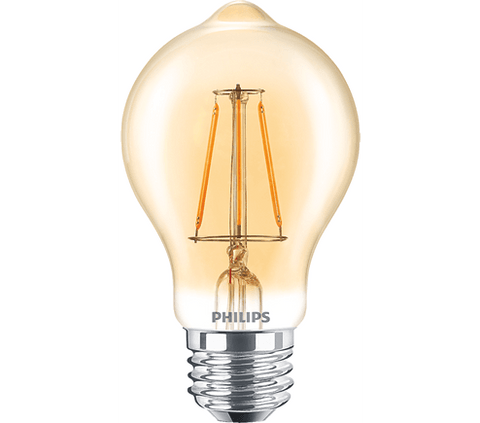 Philips 4.5W A19 Filament Amber Dimmable