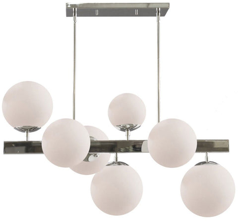 Artcraft Moonglow 35.5 in. wide Polished Nickel Chandelier