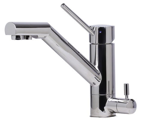 Solid Polished Stainless Steel Kitchen Faucet with Built in Water Dispenser