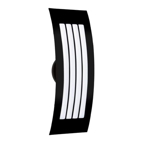"Sail 4""w x 13""h Black Wall Sconce with Satin White Glass"