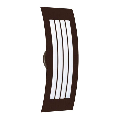 "Sail 4""w x 13""h Bronze Wall Sconce with Satin White Glass"