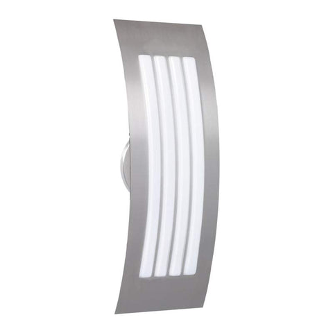 "Sail 4""w x 13""h Satin Nickel Wall Sconce with Satin White Glass"