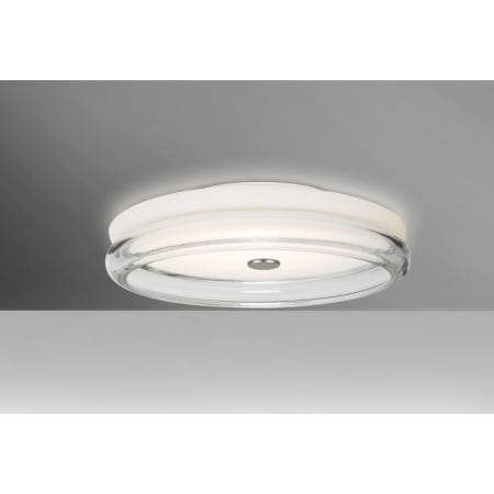 "Topper 12""w Opal/Clear Ceiling Fixture"