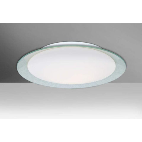 Tuca Silver Foil and Opal Glass Ceiling Fixture (2 Sizes)