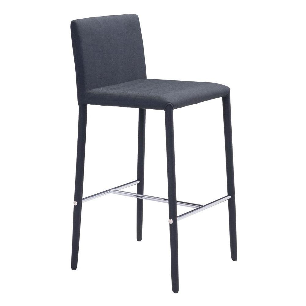 Confidence Counter Chair Black Set of 2 Furniture Zuo