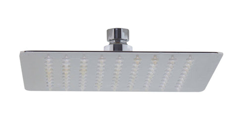 "Solid Polished Stainless Steel 8"" Square Ultra Thin Rain Shower Head"