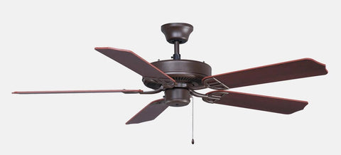 "Aire Decor 52"" Bronze Ceiling Fan with Cherry/Dark Walnut Blades"