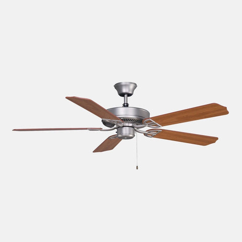 "Aire Decor 52"" Damp Rated Ceiling Fan - Satin Nickel"