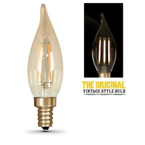 "LED "" The Original"" Vintage Deco Chandelier Bulb Bulbs Feit Electric"