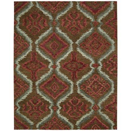 "Tahoe Modern Brown Red Rug - 7'9"" x 9'9"" Large"