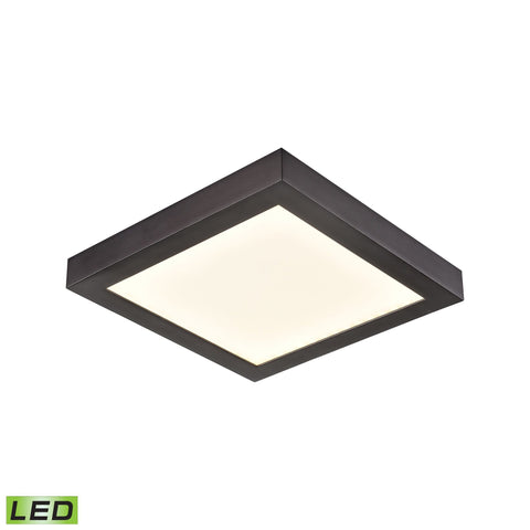 Ceiling Essentials Titan 5.5-inch Square Flush Mount in Oil Rubbed Bronze - Integrated LED  Thomas Lighting