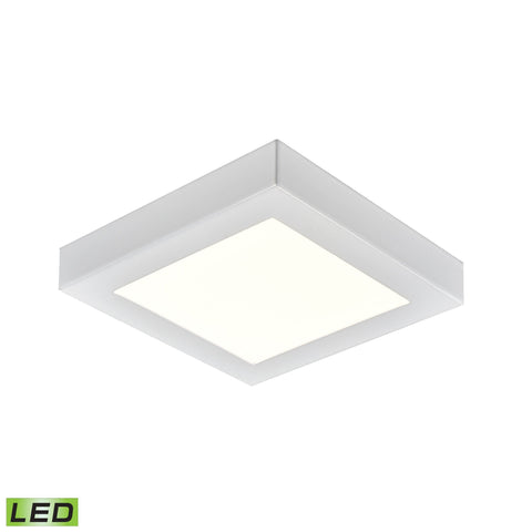 Ceiling Essentials Titan 5.5-inch Square Flush Mount in White - Integrated LED  Thomas Lighting