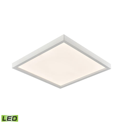 Ceiling Essentials Titan 7.5-inch Square Flush Mount in White - Integrated LED  Thomas Lighting