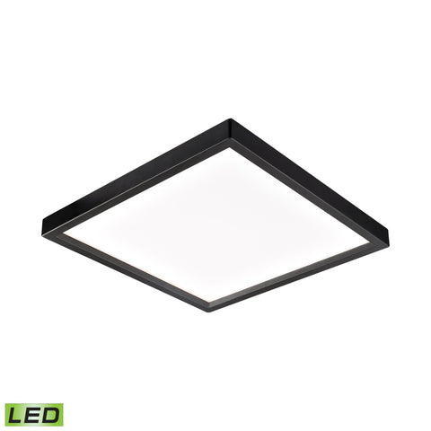 Ceiling Essentials Titan 9.5-inch Square Flush Mount in Oil Rubbed Bronze - Integrated LED  Thomas Lighting