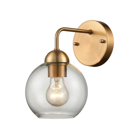 Astoria 1-Light Wall Sconce in Satin Gold Wall Thomas Lighting