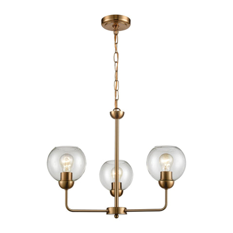 Astoria 3-Light Chandelier in Satin Gold