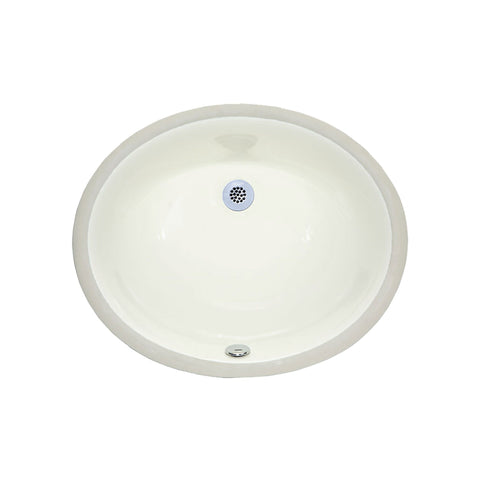 Undermount Sink - 18-inch Oval Vitreous China - Linen