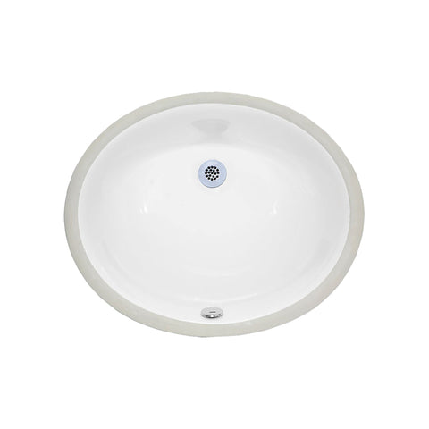 Undermount Sink - 18-inch Oval Vitreous China - White