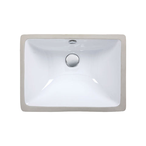 Undermount Sink - 18.3-inch Rectangular Vitreous China sink