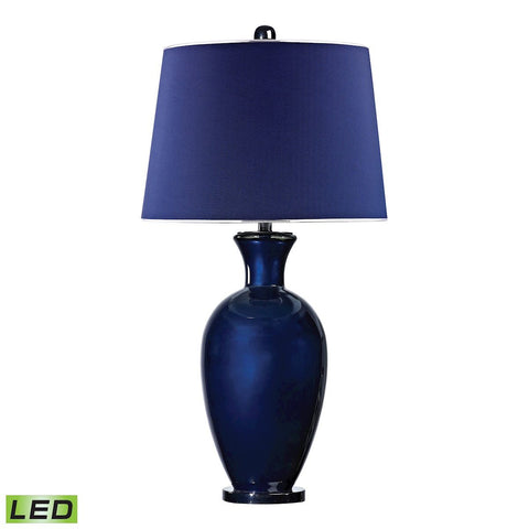 Helensburugh Glass LED Table Lamp in Navy Blue Lamps Dimond Lighting