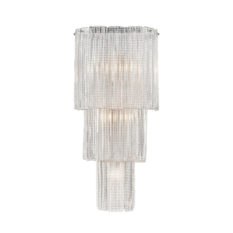 "Diplomat 27""h 5-Light Wall Sconce in Chrome"