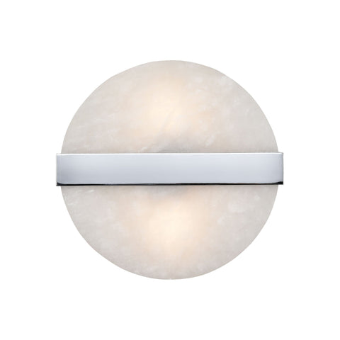 Stonewall 2-Light Wall Sconce in White and Chrome