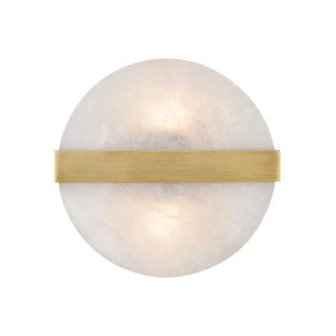 Stonewall 2-Light Wall Sconce in Aged Brass