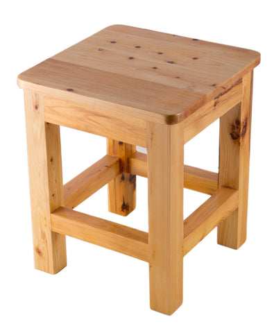"10""x10"" Square Wooden Bench/Stool Multi-Purpose Accessory"