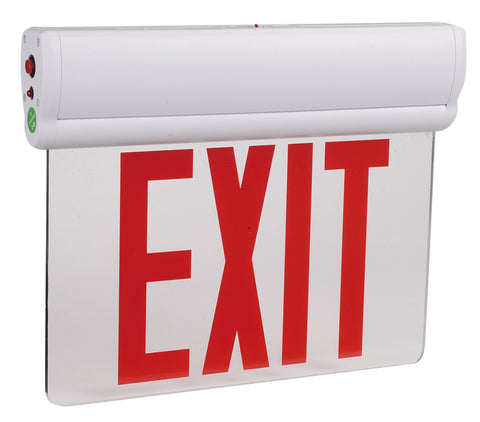 Multi Pack LED Edge Lit Emergency Exit Sign - Red or Green