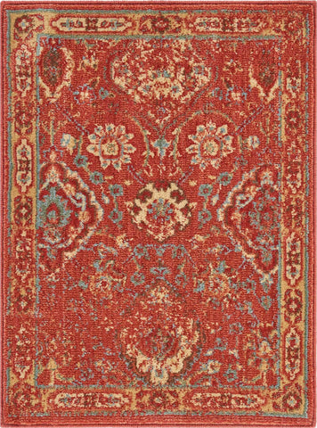 Somerset Red Oriental Area Rug - 6 Size and Shape Options Rugs Nourison 2' x 2'9""