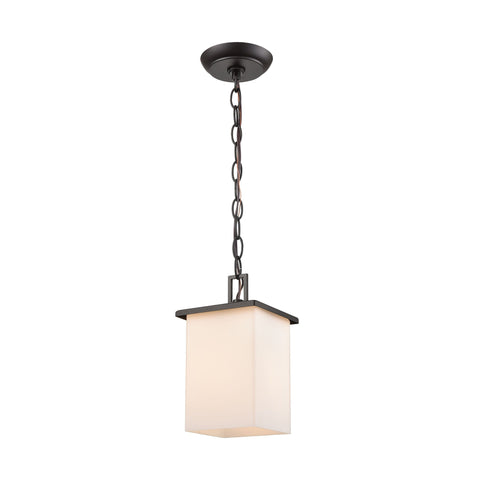 Broad Street 1-Light Exterior Pendant in Textured Black Outdoor Lighting Thomas Lighting