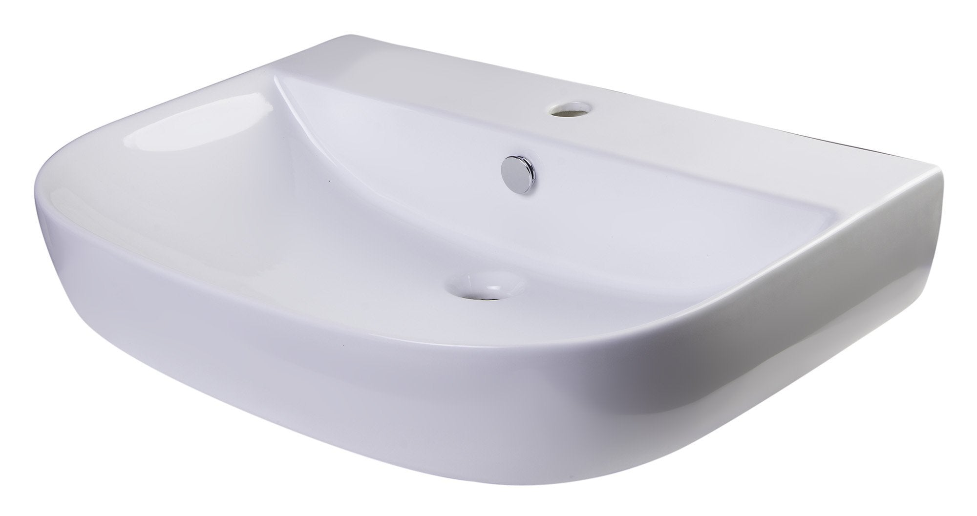 "28"" White D-Bowl Porcelain Wall Mounted Bath Sink Sink Alfi"