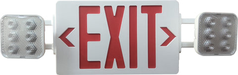 Multi Pack LED Emergency Exit Sign and Light Combo - Red or Green