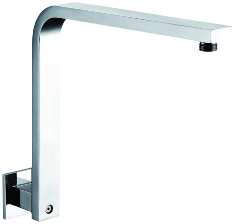 "Polished Chrome 12"" Square Raised Wall Mounted Shower Arm"
