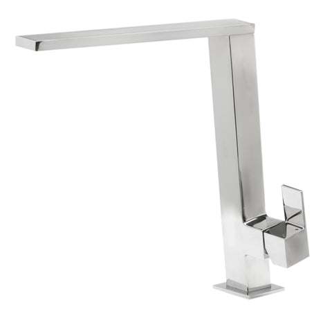 Square Modern Polished Stainless Steel Kitchen Faucet